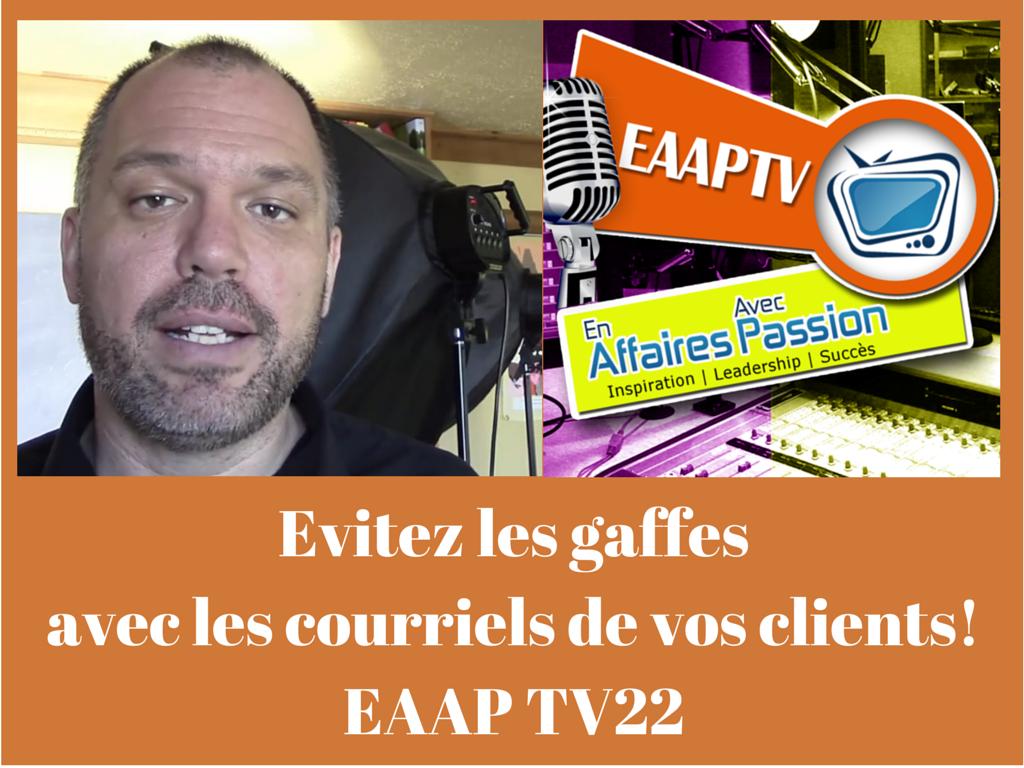 EAAPTV 22 - émission web pour infopreneurs