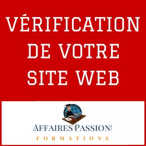 VÉRIFICATION DE VOTRE SITE WEB