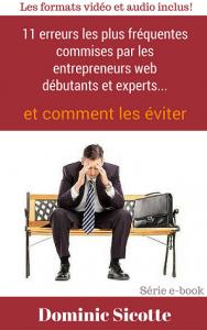 11 erreurs des entrepreneurs web - Site web
