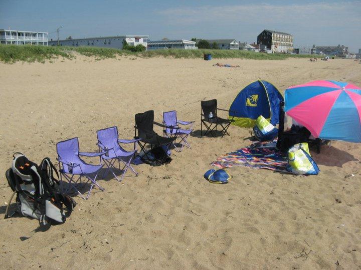 Sur la plage sans personne